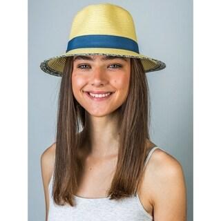 Hatch Sunburst Braided Paper Straw Fedora Hat
