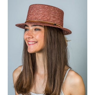 Hatch Tribal Trim Straw Boater Hat
