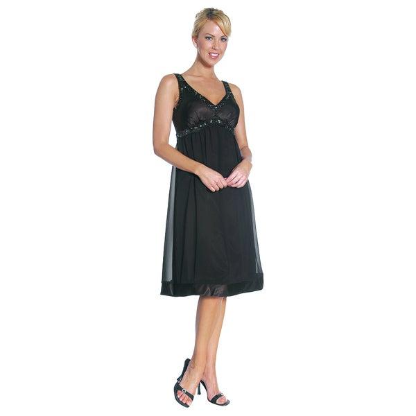 Shop Dfi Womens Black Dress Knee Length Gown On Sale Free