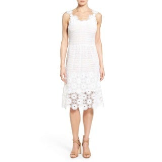 Elie Tahari Women's Goranna White Lace Dress