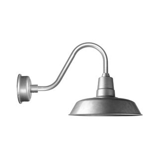 """12"""" Oldage LED Barn Light with Rustic Arm in Galvanized Silver"""