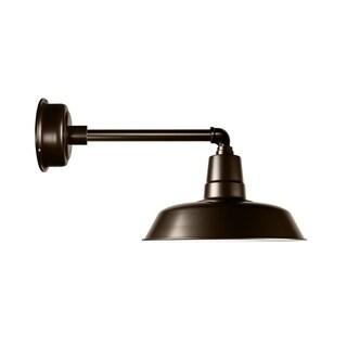 "12"" Oldage LED Barn Light with Metropolitan Arm in Mahogany Bronze"