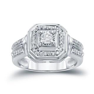 Auriya 14k Gold 2/5ct TDW Round Diamond Engagement Ring ( H-I I1-I2)