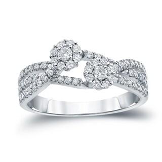 Auriya 10k Gold 1/2ct TDW Round Diamond Engagement Ring ( H-I I1-I2)
