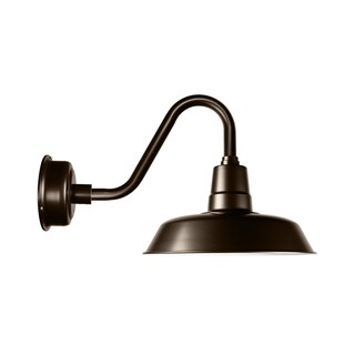 "14"" Oldage LED Barn Light with Vintage Arm in Mahogany Bronze"