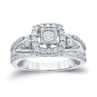 Auriya 14k Gold 3/5ct TDW Round Diamond Engagement Ring ( H-I, I1-I2)