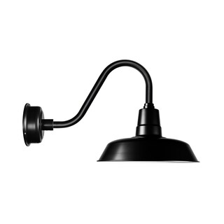 "16"" Oldage LED Barn Light with Rustic Arm in Matte Black"