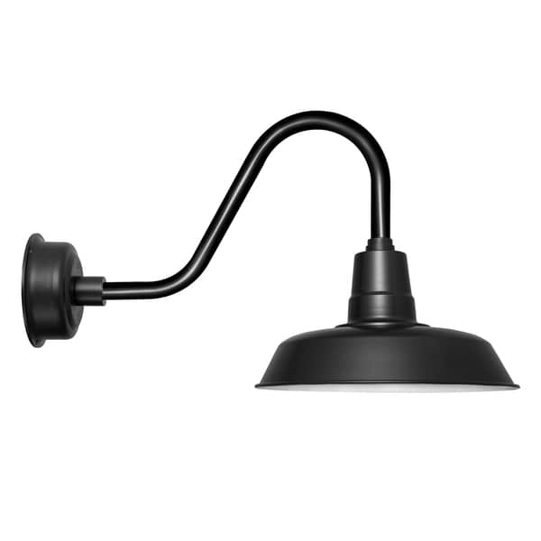 "18"" Oldage LED Barn Light with Rustic Arm in Matte Black"