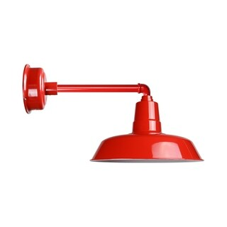 """22"""" Oldage LED Barn Light with Metropolitan Arm in Cherry Red"""