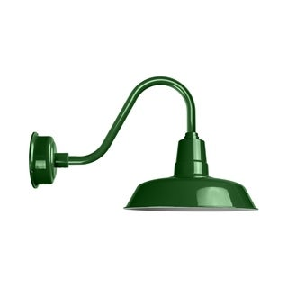 "22"" Oldage LED Barn Light with Rustic Arm in Vintage Green"