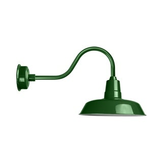 """22"""" Oldage LED Barn Light with Contemporary Arm in Vintage Green"""