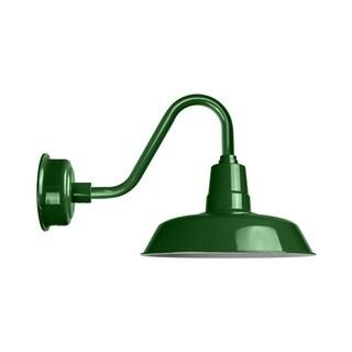 """22"""" Oldage LED Barn Light with Vintage Arm in Vintage Green"""