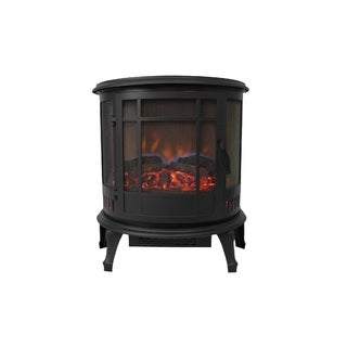 Comfort Glow The Claremont 3-Sided Viewing Electric Stove, Black