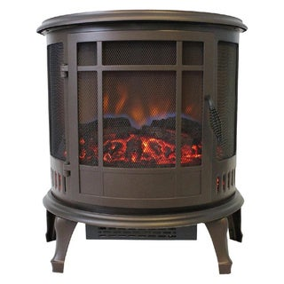 Comfort Glow The Claremont 3-Sided Viewing Electric Stove, Bronze
