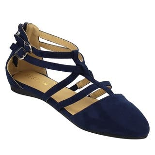 Beston DE53 Women's Ankle Strap T-strap Ballerina Flats One Size Small|https://ak1.ostkcdn.com/images/products/16617440/P22943974.jpg?impolicy=medium