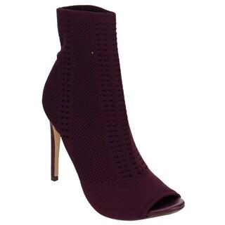 Beston DE43 Women's Knitted Peep Toe Stiletto Sock Bootie Ankle Heels (More options available)