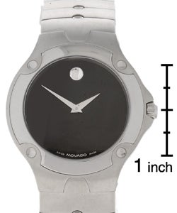 Movado Sports Edition Men's Black Dial Stainless Steel Watch