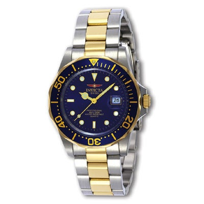 c38f398e3 Shop Invicta Men's Swiss Diver Two-tone Blue Dial Watch - Free Shipping  Today - Overstock - 1662143