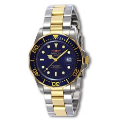 Invicta Men's Swiss Diver Two-tone Blue Dial Watch