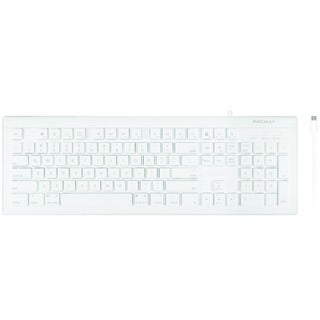 Macally 104 Key Full Size Slim USB-C Keyboard for Mac and PC
