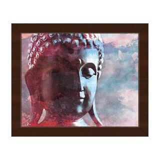 Lite Buddha Abstract Framed Canvas Wall Art Print