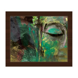 Painted Buddha Abstract Framed Canvas Wall Art