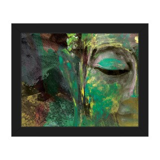 Painted Buddha Multicolored Framed Canvas Abstract Wall Art