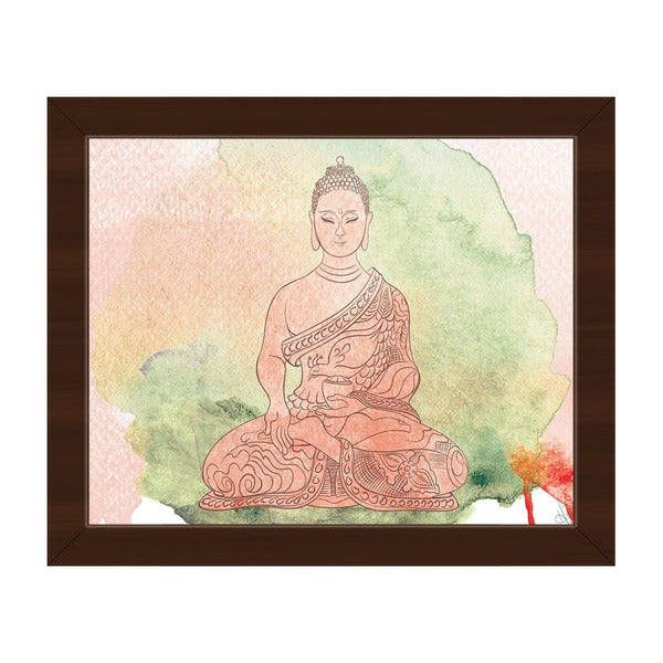 Watercolor Buddha Framed Canvas Wall Art Print - Free Shipping Today ...