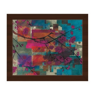 Cherry Branch Abstract Framed Canvas Wall Art