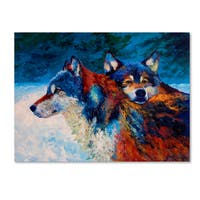 Marion Rose 'Wolves' Canvas Art