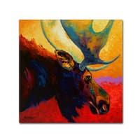 Marion Rose 'Alaska Spirit Moose' Canvas Art