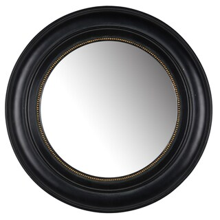 Sable 15-inch Black Resin Round Mirror - A