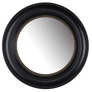 Sable 15-inch Black Resin Round Mirror