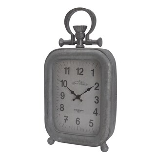 Silver Metal Table Clock