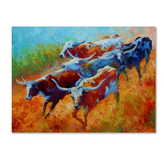 Marion Rose 'Longhorns II' Canvas Art
