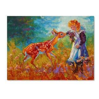 Marion Rose 'Little Girl' Canvas Art