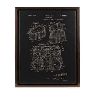 Kate and Laurel 'Sylvie Fly Fishing Keel Patent' Wall Art