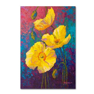 Marion Rose 'Yel Poppies' Canvas Art