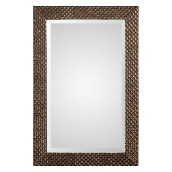 The Curated Nomad Dolores Bronze Honeycomb Rectangle Mirror. Opens flyout.
