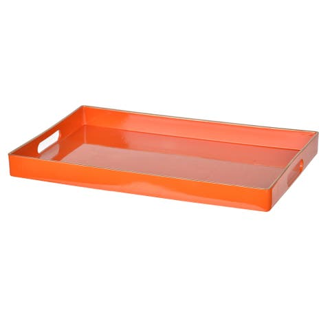 Orange Plastic Decorative Tray