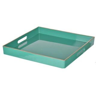 Green Plastic Decorative Tray