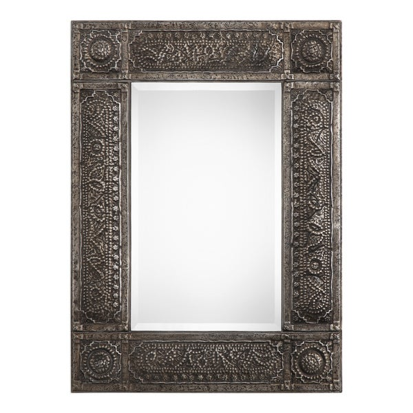 Gracewood Hollow Khumalo Metal Mirror - Rust - 30.125x40.25x1.5