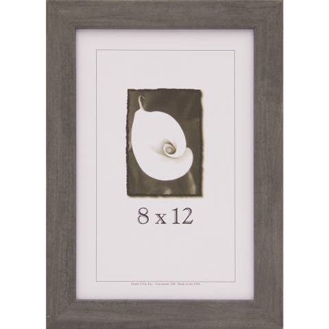 Grey Narrow Picture Frame 8x12