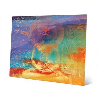 Tangerine Buddha Abstract Wall Art Print on Metal