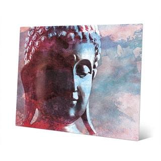 Cerulean Buddha Abstract Wall Art Print on Metal