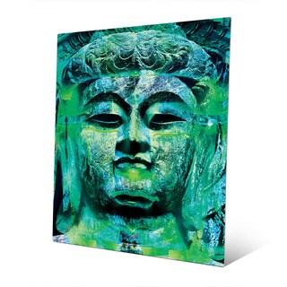 Art and Photo Decor 'Teal Buddha' Abstract Wall Art Print on Metal