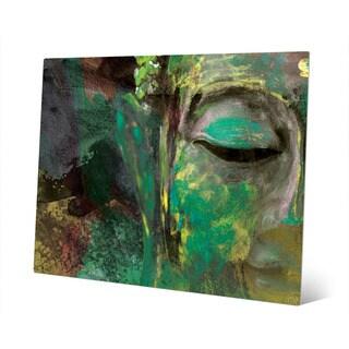 Emerald Buddha Abstract Wall Art Print on Metal