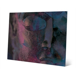 'Indigo Buddha' Abstract Wall Art Print on Metal (3 options available)