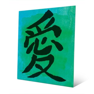 Seasalt Love in Japanese Wall Art Print on Metal