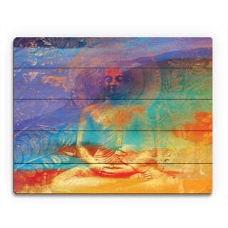 Tangerine Buddha Abstract Wall Art Print on Wood